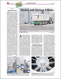 Mobil mit Swing-Effekt. - Artikel in der Bauernzeitung 23/2014.